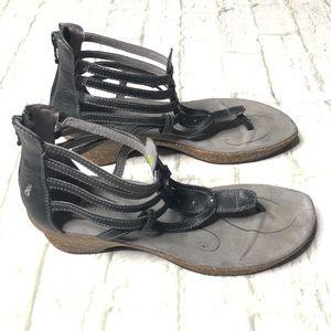 Ahnu gray gladiator sandals